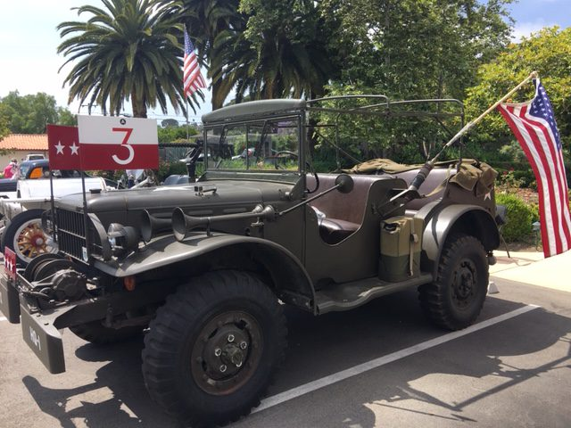 Patton command car at Santa Barbara retirement community classic car parade