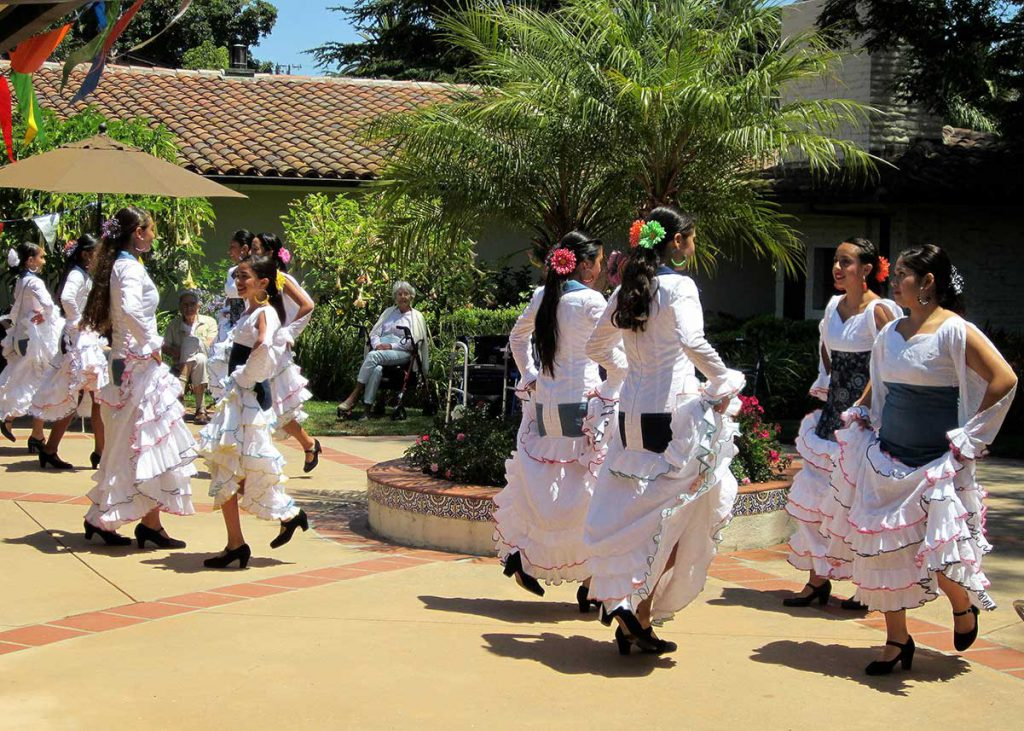 Flamenco Dancers during Fiesta in Santa Barbara