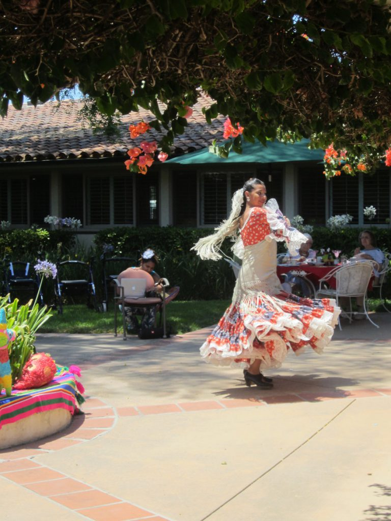 Fiesta dancers giving a performance at Wood Glen Hall