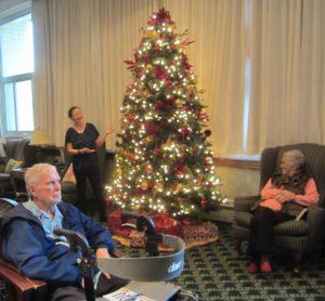 Lighting of the Christmas Tree at an Assisted Living Facility in Santa Barbara, California