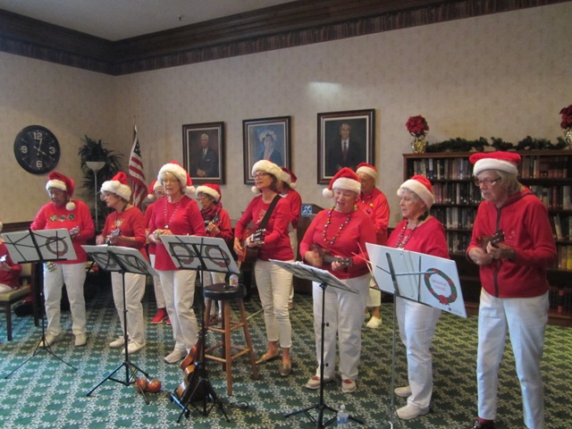 The Ukulele Lulus of the Assistance League of Santa Barbara brought great pleasure to the residents of our Assisted Living Facility when they performed holiday music in December 2019