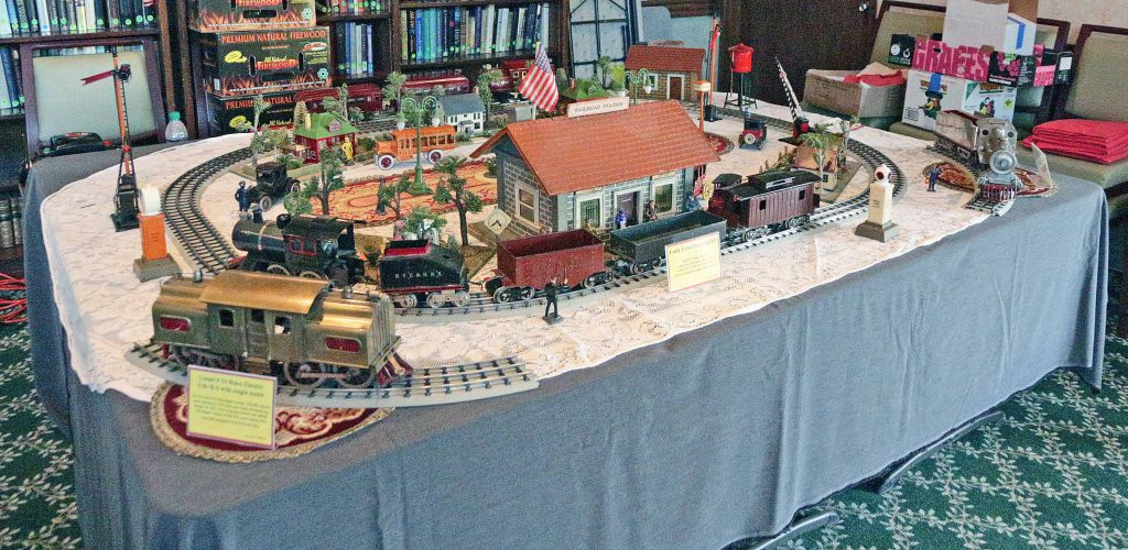 Annual Toy Train Show display, a fun activity at Wood Glen Hall Independent and Assisted Living