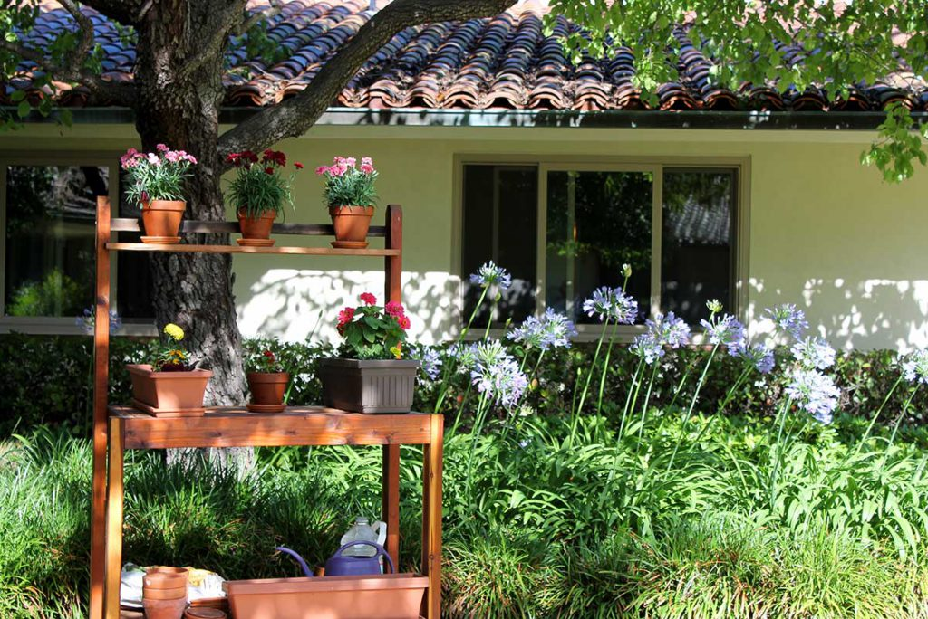 Resident's Gardening Club Area at Wood Glen Hall Assisted Living in Santa Barbara