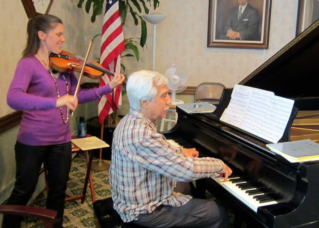 A violin and piano duet