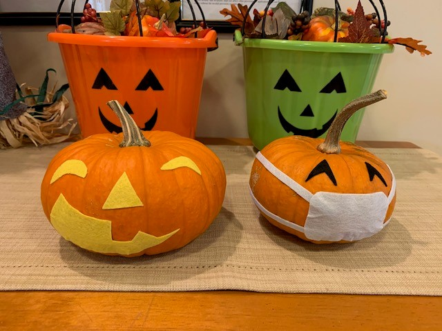 pumpkins decorated in an assisted living home